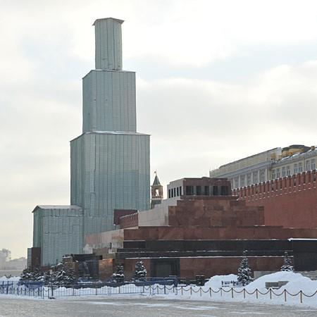 Строительная мембрана TEND на московском Кремле